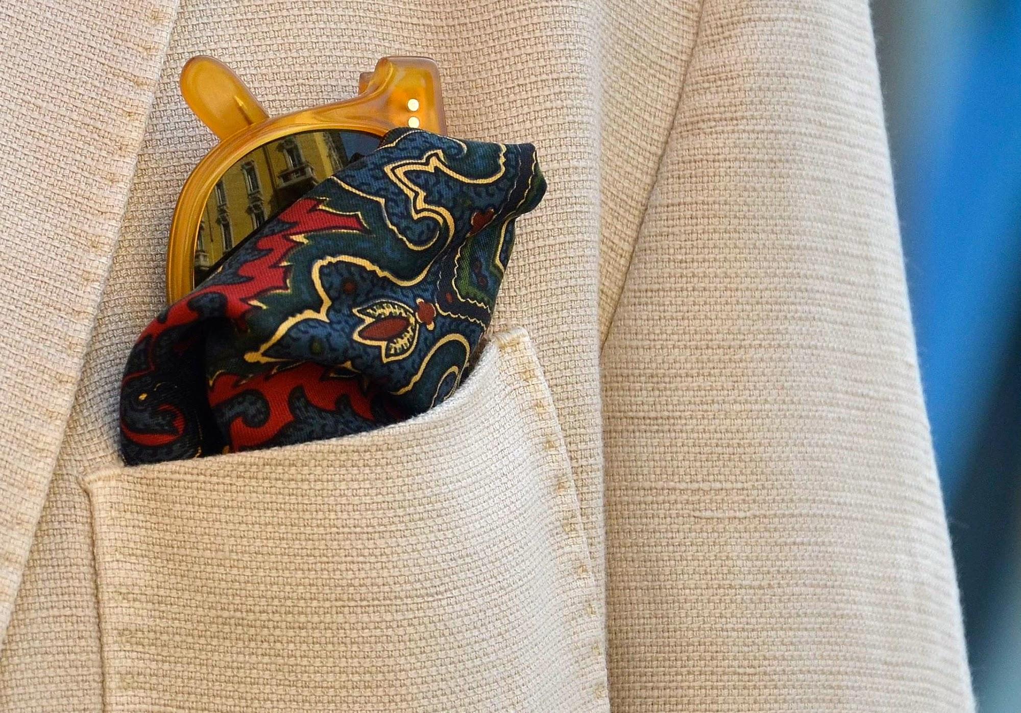 Vintage Pochette and Regimental Tie