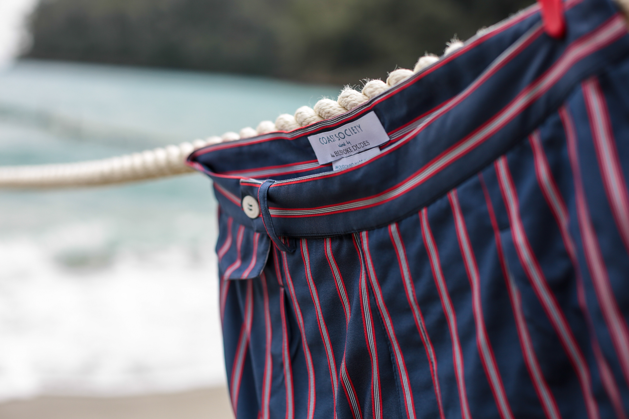 Coast Society by The Bespoke Dudes Tailored swimming shorts for contemporary nomads