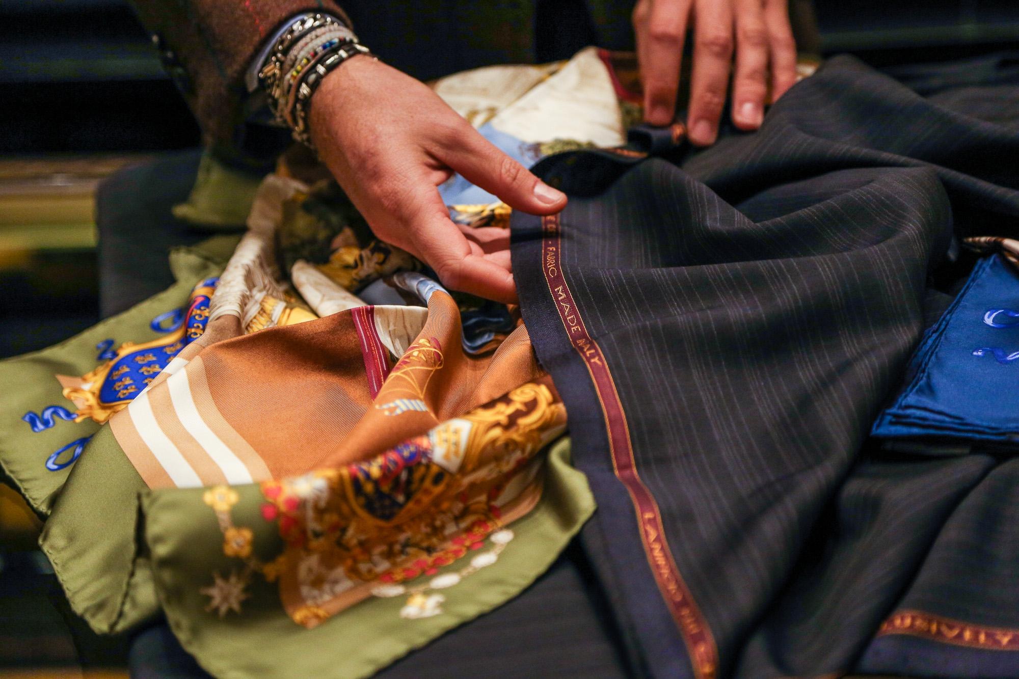 Rubinacci: Abito tre pezzi in mohair   Misure, prove e abito finito