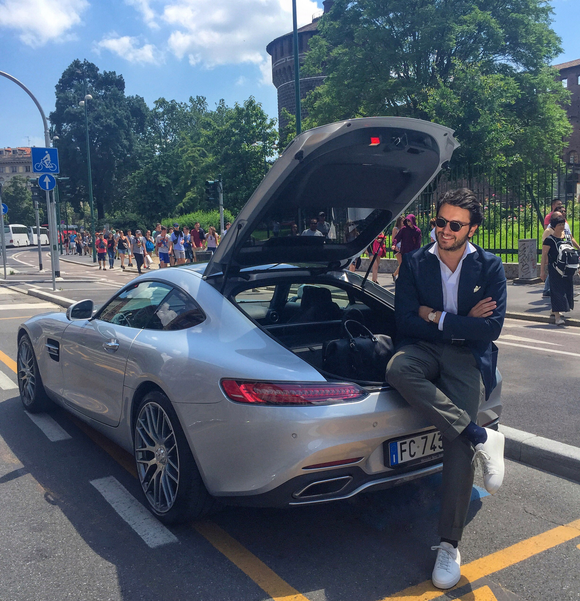 Urban life Santoni and Mercedes AMG