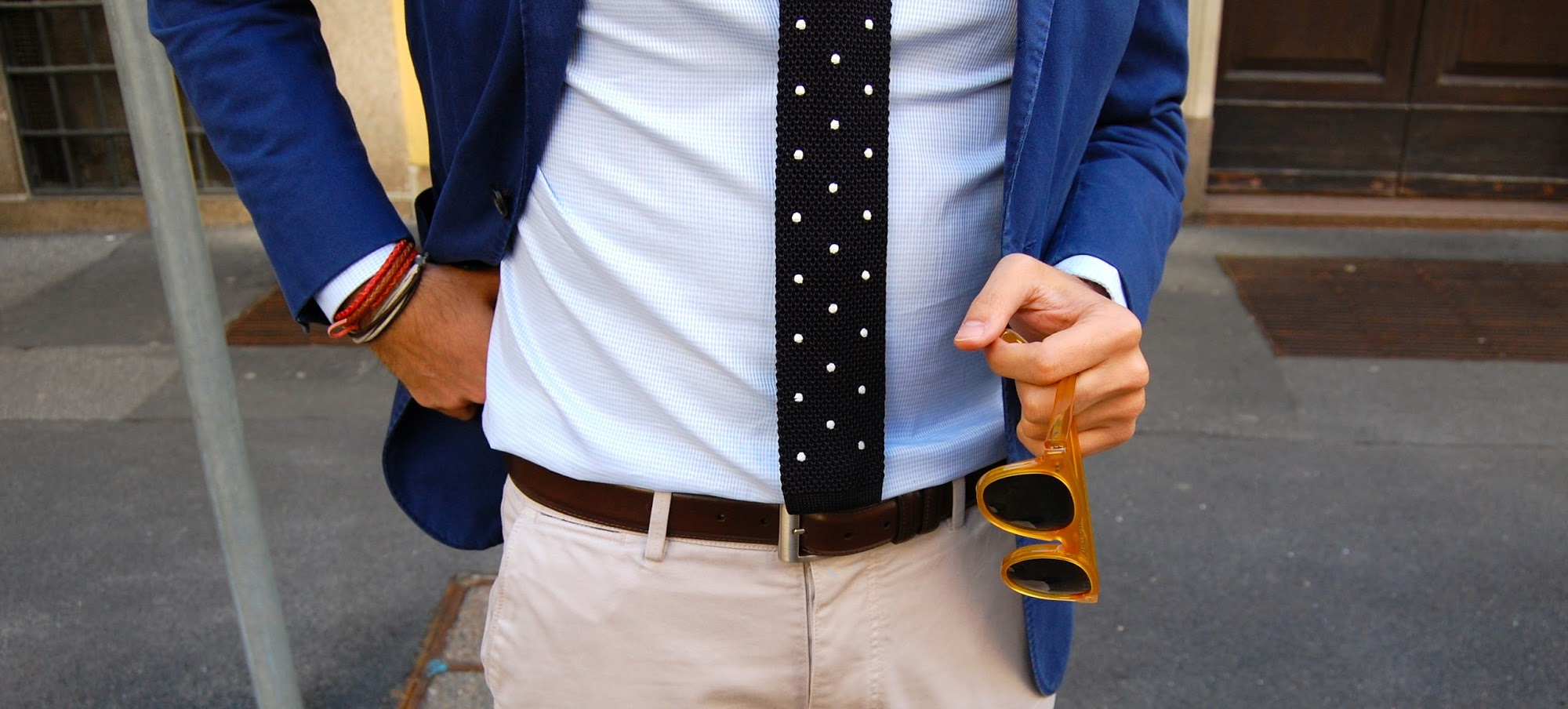Still here: Boglioli Jacket & Polka Dot Knit Tie
