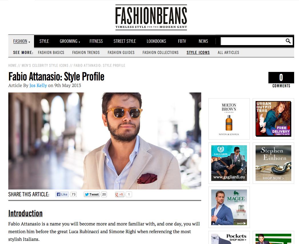 Featured on Fashionbeans.com