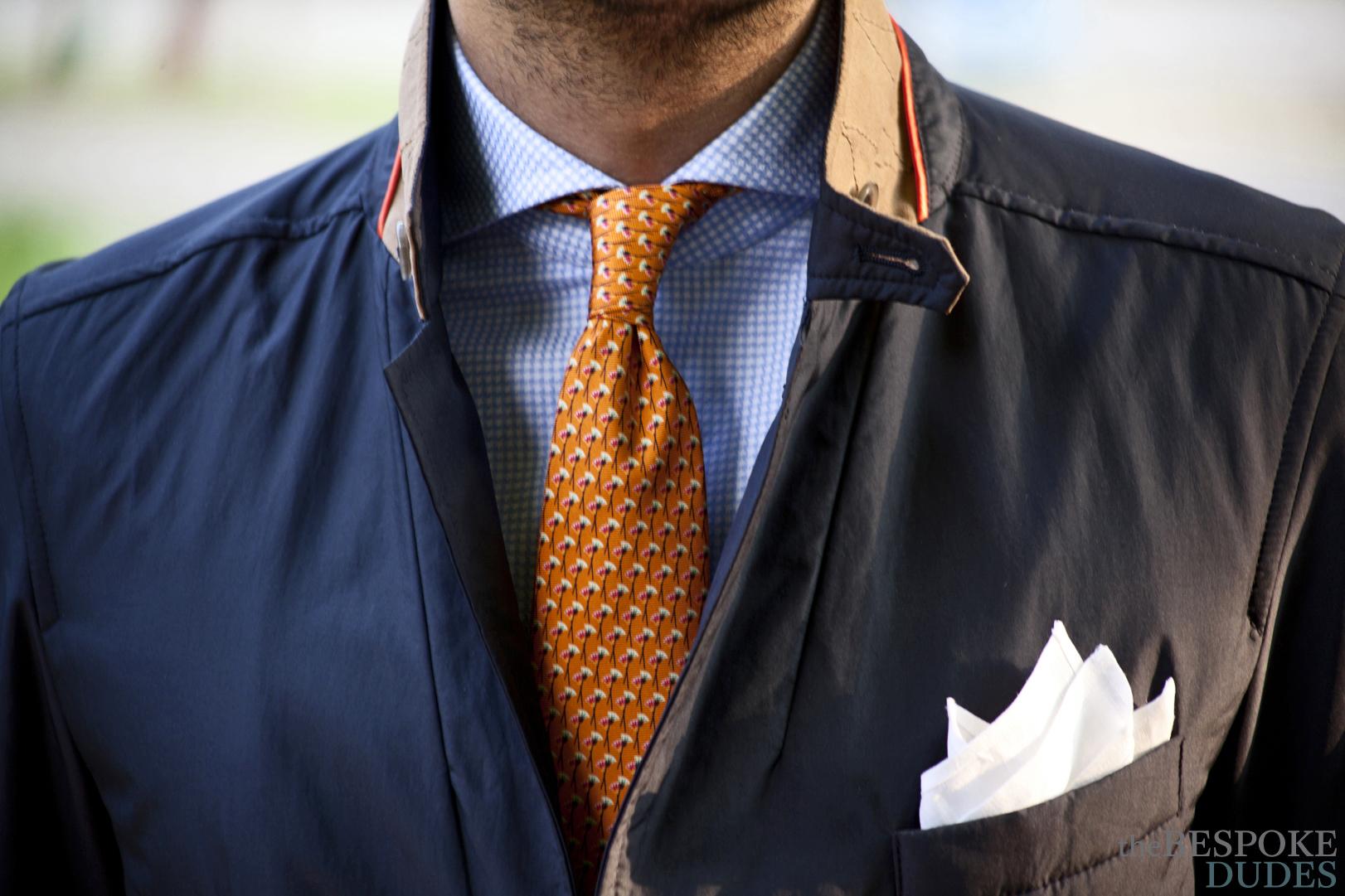 Blazer tie color navy Shirt &