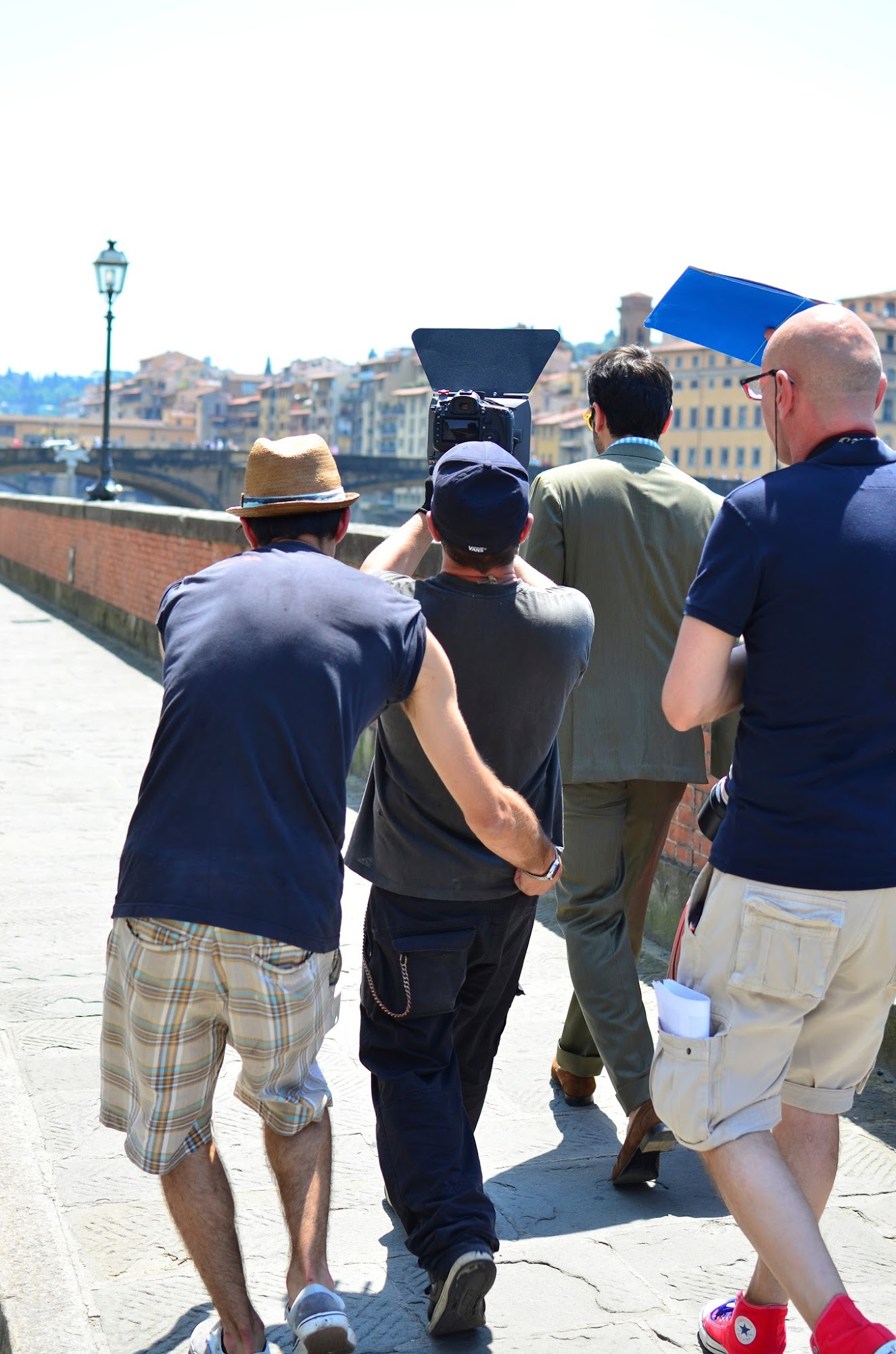 Filming in Florence for Savas Milano