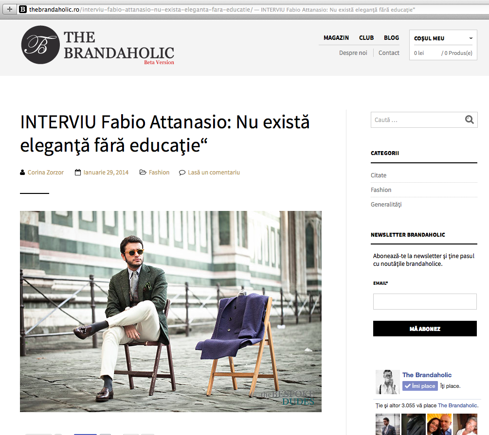 Interview for The Brandaholic - No Elegance without Education