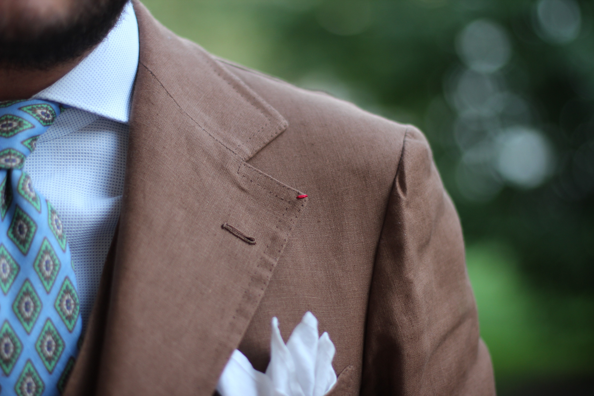 Dalcuore Three-piece Suit Tobacco coloured Will Bill Irish linen