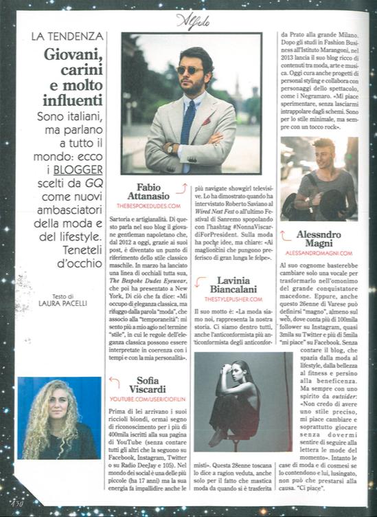 GQ Italia - Dicembre 2015