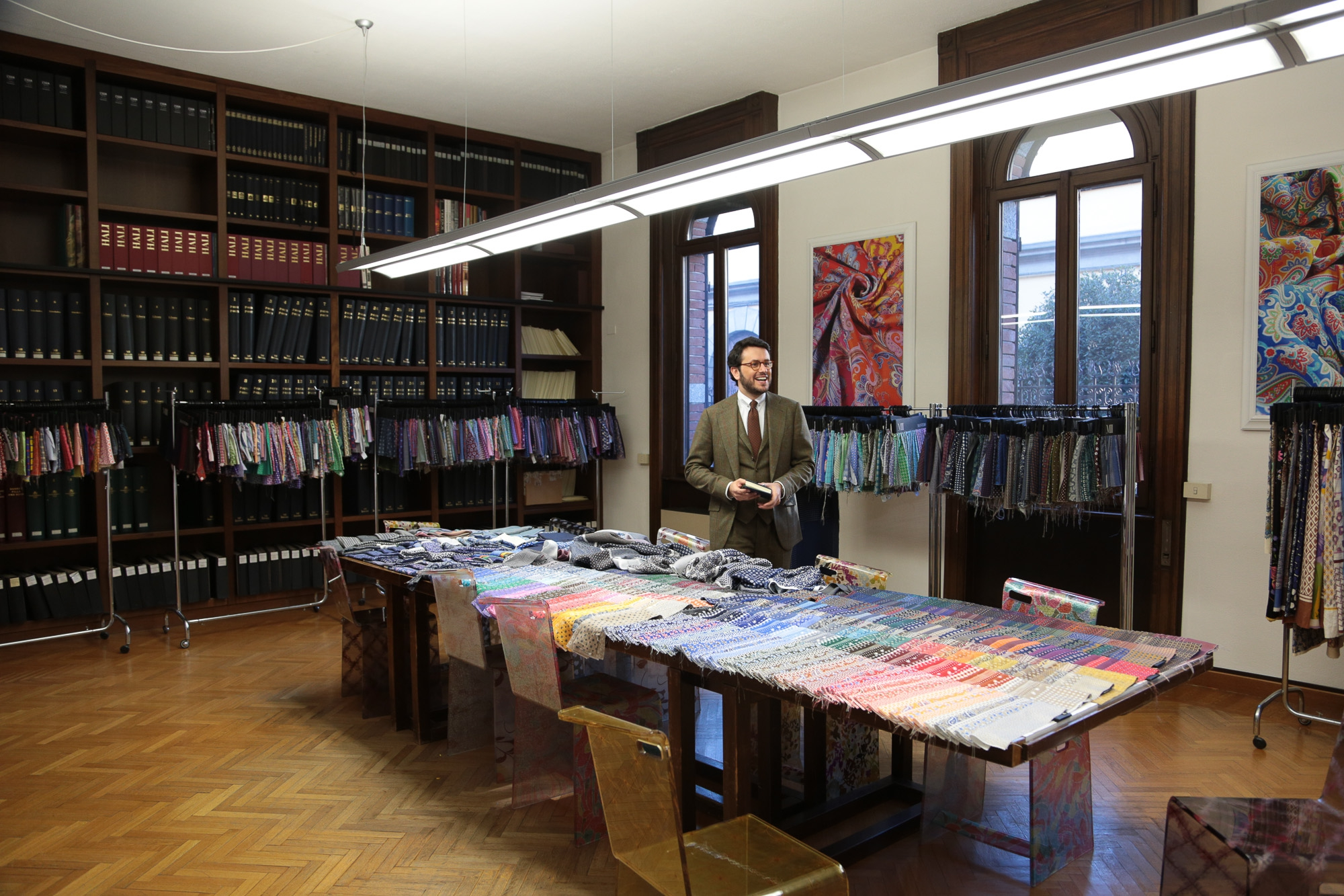 Mantero Seta: A visit to the samples archive The Headquarters of the company now have been moved from Como to Grandate